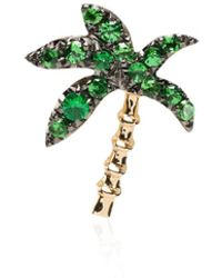 Yvonne Léon 18kt Gold And Tsavorite Palm Tree Earring - Metallic