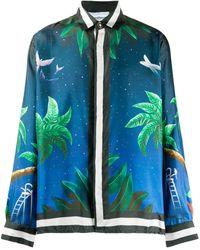 CASABLANCA Ocean Resort シルクシャツ - ブルー