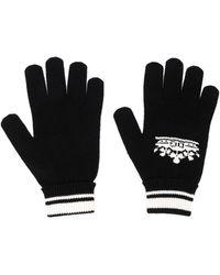 Dolce & Gabbana Перчатки С Логотипом Вязки Интарсия - Черный