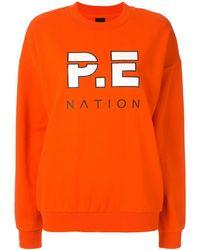 P.E Nation Full Strength Sweater - Orange