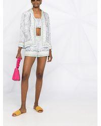 Emilio Pucci Beach Print Mini Silk Jacket - Multicolour