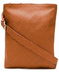 Sarah Chofakian Woven Leather Crossbody Bag - Orange