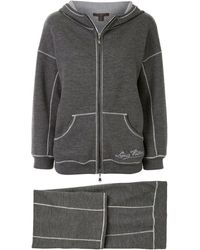 Louis Vuitton Pre-owned Embroidered Logo Tracksuit - Gray