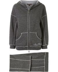 Louis Vuitton Спортивный Костюм С Вышитым Логотипом - Серый