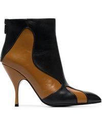 Bottega Veneta Curl 100 Leather Boots - Black