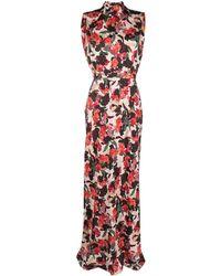 Saloni - Платье С Цветочным Принтом - Lyst