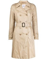 Aspesi Padded Trench Coat - Natural
