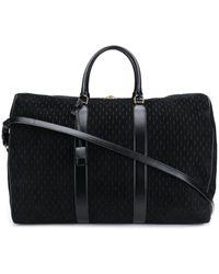 Saint Laurent Logo Pattern Duffle Bag - Black