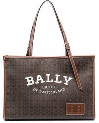 Bally ロゴ トートバッグ - ブラウン