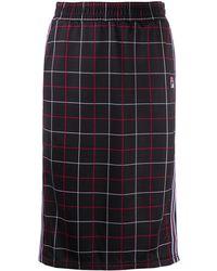 Fila Check-print Midi Skirt - Black