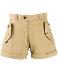 DSquared² Pantalones cortos tipo cargo con detalle de solapas - Neutro