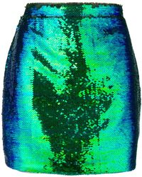 Amen - Sequin Embellished Mini Skirt - Lyst