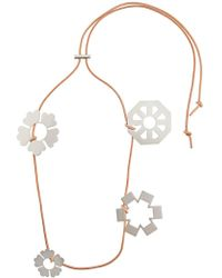 Tory Burch - Abstract Floral Charm Necklace - Lyst