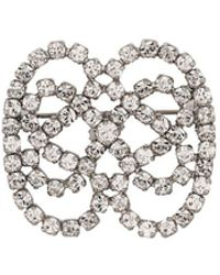 Christian Dior x Susan Caplan 1976 Archive Bow Crystal Brooch - Metallic