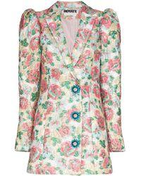 ROTATE BIRGER CHRISTENSEN Vestito modello blazer Carol a fiori - Rosa