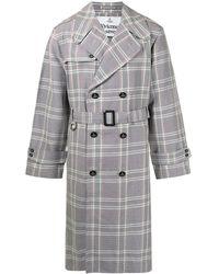 Vivienne Westwood Geruite Trenchcoat - Paars