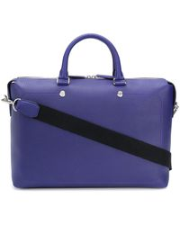 Mulberry City Heavy Grain Briefcase - Blue