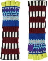 Burberry - Fair Isle Fingerless Gloves - Lyst