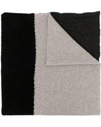 Daniel Andresen Panelled Wool-knit Scarf - Black