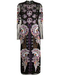Temperley London エンブロイダリー ドレス - ブラック