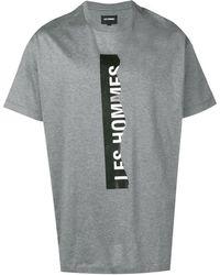 Les Hommes ロゴ Tシャツ - グレー