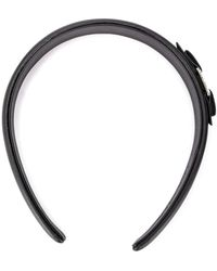 Ferragamo Bow-detail Headband - Black