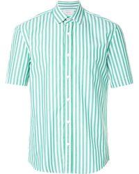 Cerruti 1881 Short Sleeved Stripe Shirt - Green