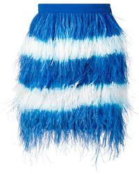 MSGM Rok Met Veren - Blauw