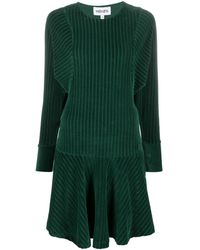 KENZO Striped Sweatshirt Mini Dress - Green