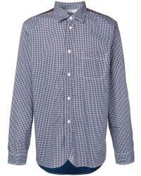 Junya Watanabe - Check Print Contrasting Back Shirt - Lyst