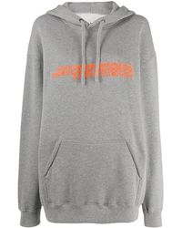 CALVIN KLEIN JEANS EST. 1978 Oversized Embroidered Hoodie - Gray