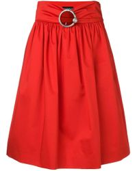 Boutique Moschino - Belted Midi Skirt - Lyst