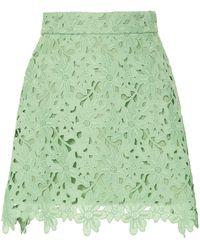 Bambah Lace Crochet Mini Skirt - Green