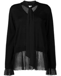 Twin Set - Neck-tied Fitted Jumper - Lyst