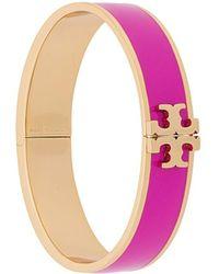 Tory Burch Armband Met Logoplakkaat - Roze