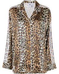 adidas Leopard-print Satin Shirt - Brown