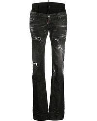 DSquared² Sharpei Straight-leg Jeans - Black