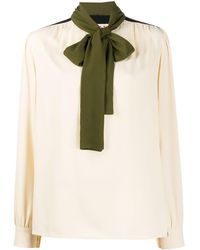 Marni Блузка С Контрастными Вставками - Многоцветный