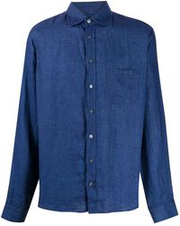 Sease パッチポケット シャツ - ブルー