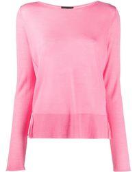 Roberto Collina Lightweight Crew Neck Sweater - Pink