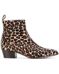 L'Autre Chose | Cheetah Print Ankle Boots | Lyst