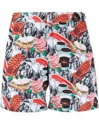Orlebar Brown Collage Print Swim Shorts - Red
