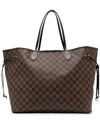 Louis Vuitton - Borsa tote Damier Ebène Neverfull GM Pre-owned 2008 - Lyst