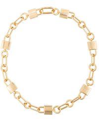 Ambush Gold Padlock Link Necklace - Metallic