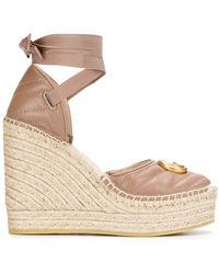 Gucci Leather Platform Espadrilles - Pink