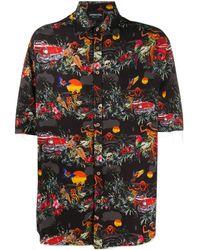 Mauna Kea Рубашка С Принтом Hawaiian - Черный