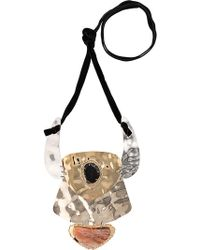Proenza Schouler - Oversized Hammered Necklace - Lyst