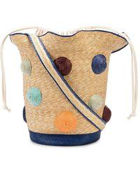 Rosie Assoulin Polka Dot Woven Basket Tote Bag - Multicolour