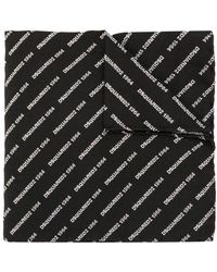DSquared² Bufanda con logo bordado - Negro