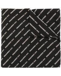 DSquared² Écharpe à logo brodé - Noir
